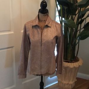 Chico's Leather light Weight Jacket